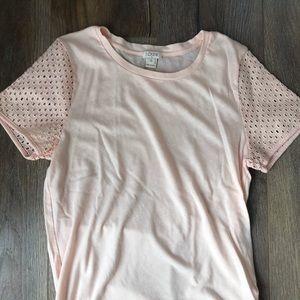 J. Crew- peach/ baby pink T-shirt. S